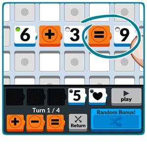 Numbered: Para terminar el cálculo, pon un símbolo de igual y el resultado de las sumas y restas